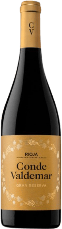 19,95 € 免费送货   红酒 Valdemar Conde de Valdemar Gran Reserva D.O.Ca. Rioja 拉里奥哈 西班牙 Tempranillo, Graciano, Maturana Tinta 瓶子 75 cl