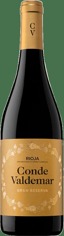19,95 € Envío gratis | Vino tinto Valdemar Conde de Valdemar Gran Reserva D.O.Ca. Rioja La Rioja España Tempranillo, Graciano, Maturana Tinta Botella 75 cl