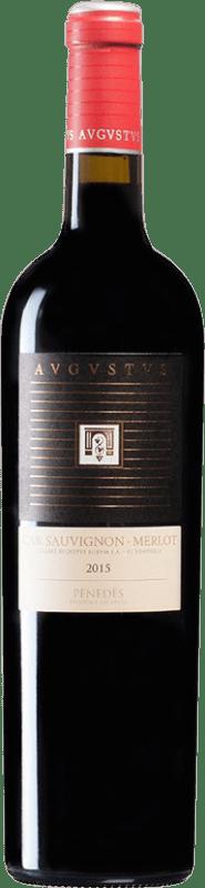 9,95 € Envío gratis | Vino tinto Augustus Crianza D.O. Penedès Cataluña España Merlot, Cabernet Sauvignon Botella 75 cl