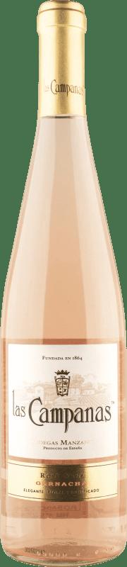 4,95 € 免费送货 | 玫瑰酒 Vinícola Navarra Las Campanas Joven D.O. Navarra 纳瓦拉 西班牙 Grenache 瓶子 75 cl