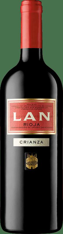 13,95 € Envío gratis | Vino tinto Lan Crianza D.O.Ca. Rioja La Rioja España Tempranillo, Mazuelo, Cariñena Botella Mágnum 1,5 L