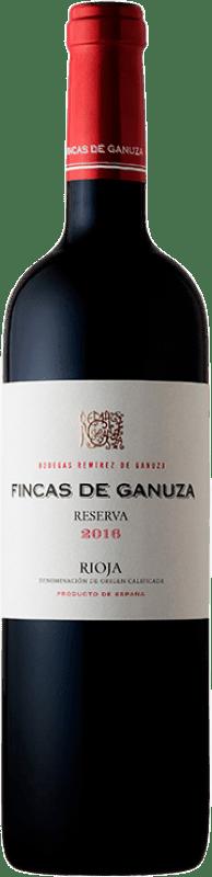 31,95 € Envoi gratuit | Vin rouge Remírez de Ganuza Fincas de Ganuza Reserva D.O.Ca. Rioja La Rioja Espagne Bouteille 75 cl