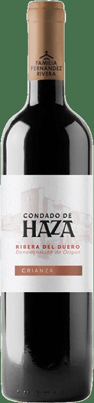 12,95 € Envío gratis | Vino tinto Condado de Haza Crianza D.O. Ribera del Duero Castilla y León España Tempranillo Botella 75 cl