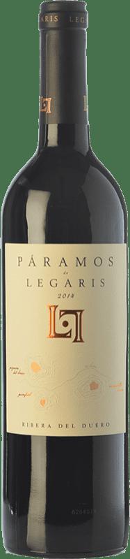 19,95 € 免费送货 | 红酒 Legaris Páramos D.O. Ribera del Duero 卡斯蒂利亚莱昂 西班牙 Tempranillo 瓶子 75 cl