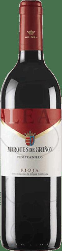5,95 € Envío gratis | Vino tinto Marqués de Griñón Alea Joven D.O.Ca. Rioja La Rioja España Tempranillo Botella 75 cl