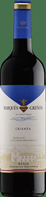 5,95 € 免费送货 | 红酒 Marqués de Griñón Crianza D.O.Ca. Rioja 拉里奥哈 西班牙 Tempranillo 瓶子 75 cl