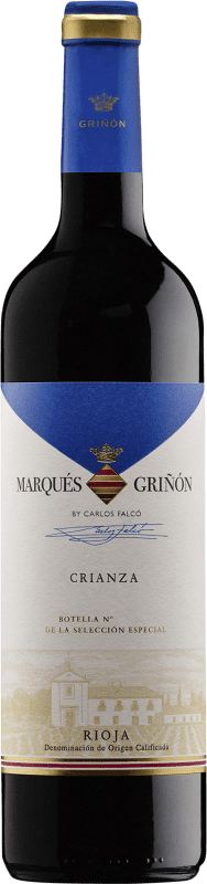 5,95 € Envoi gratuit | Vin rouge Marqués de Griñón Crianza D.O.Ca. Rioja La Rioja Espagne Tempranillo Bouteille 75 cl