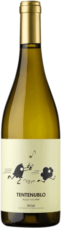 14,95 € Envío gratis | Vino blanco Tentenublo Joven D.O.Ca. Rioja La Rioja España Malvasía, Macabeo Botella 75 cl