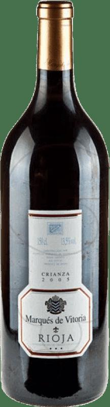 15,95 € Envoi gratuit | Vin rouge Marqués de Vitoria Crianza D.O.Ca. Rioja La Rioja Espagne Tempranillo Bouteille Magnum 1,5 L