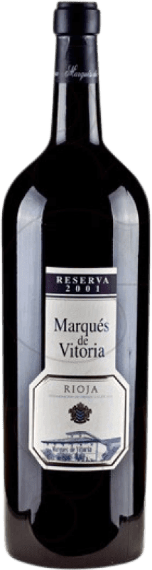 79,95 € | Red wine Marqués de Vitoria Reserva 2007 D.O.Ca. Rioja The Rioja Spain Tempranillo Special Bottle 5 L