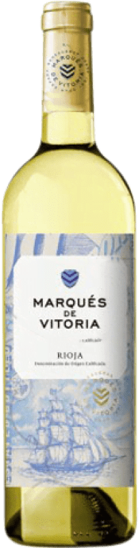 5,95 € Envoi gratuit | Vin blanc Marqués de Vitoria Joven D.O.Ca. Rioja La Rioja Espagne Macabeo Bouteille 75 cl