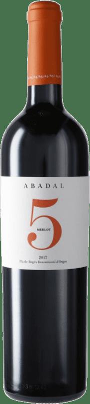 16,95 € Free Shipping | Red wine Masies d'Avinyó Abadal 5 Reserva D.O. Pla de Bages Catalonia Spain Merlot Bottle 75 cl