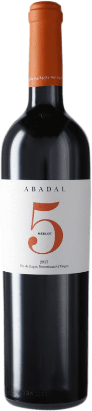 16,95 € Envío gratis | Vino tinto Masies d'Avinyó Abadal 5 Reserva D.O. Pla de Bages Cataluña España Merlot Botella 75 cl