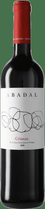 9,95 € Envío gratis | Vino tinto Masies d'Avinyó Abadal Crianza D.O. Pla de Bages Cataluña España Merlot, Cabernet Sauvignon Botella 75 cl