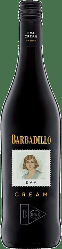 7,95 € 免费送货 | 强化酒 Barbadillo Eva Cream D.O. Jerez-Xérès-Sherry Andalucía y Extremadura 西班牙 Palomino Fino 瓶子 75 cl