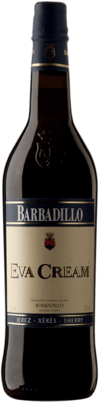 7,95 € Free Shipping | Fortified wine Barbadillo Eva Cream D.O. Jerez-Xérès-Sherry Andalucía y Extremadura Spain Palomino Fino Bottle 75 cl