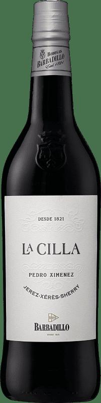 14,95 € 免费送货   强化酒 Barbadillo La Cilla D.O. Jerez-Xérès-Sherry Andalucía y Extremadura 西班牙 Pedro Ximénez 瓶子 75 cl