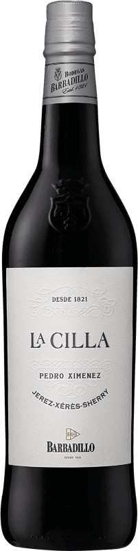 14,95 € Envío gratis   Vino generoso Barbadillo La Cilla D.O. Jerez-Xérès-Sherry Andalucía y Extremadura España Pedro Ximénez Botella 75 cl
