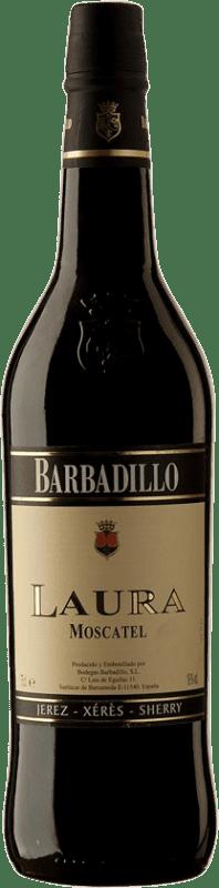 7,95 € Envoi gratuit | Vin fortifié Barbadillo Laura D.O. Jerez-Xérès-Sherry Andalucía y Extremadura Espagne Muscat Bouteille 75 cl