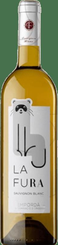 7,95 € 免费送货 | 白酒 Oliveda La Fura Crianza D.O. Empordà 加泰罗尼亚 西班牙 Sauvignon White 瓶子 75 cl