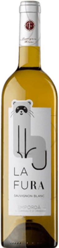 7,95 € Envío gratis | Vino blanco Oliveda La Fura Crianza D.O. Empordà Cataluña España Sauvignon Blanca Botella 75 cl