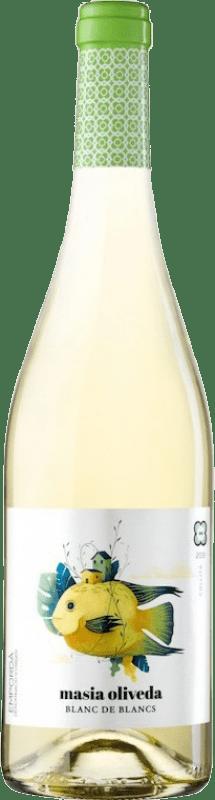 5,95 € Envío gratis | Vino blanco Oliveda Masía Joven D.O. Empordà Cataluña España Macabeo, Chardonnay Botella 75 cl