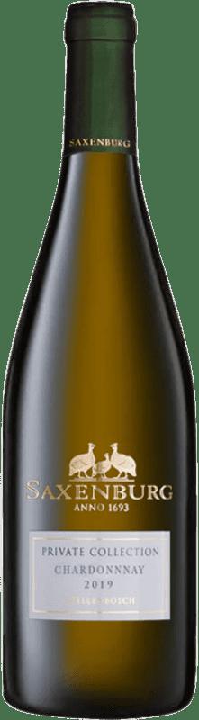 18,95 € Envío gratis | Vino blanco Saxenburg Private Collection Crianza Sudáfrica Chardonnay Botella 75 cl