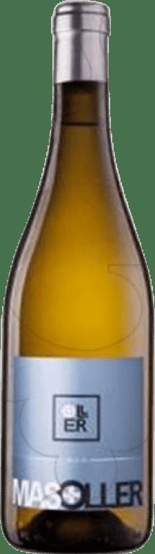 21,95 € Envío gratis | Vino blanco Mas Oller Mar Joven D.O. Empordà Cataluña España Malvasía, Picapoll Botella Mágnum 1,5 L