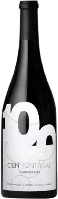 18,95 € Free Shipping | Red wine Vidas Cien Montañas Crianza D.O.P. Vino de Calidad de Cangas Castilla y León Spain Carrasquín Bottle 75 cl