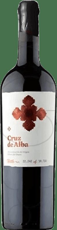 62,95 € | Red wine Cruz De Alba Crianza D.O. Ribera del Duero Castilla y León Spain Tempranillo Jéroboam Bottle-Double Magnum 3 L