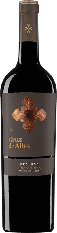 26,95 € Envoi gratuit | Vin rouge Cruz De Alba Reserva D.O. Ribera del Duero Castille et Leon Espagne Tempranillo Bouteille 75 cl