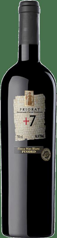 17,95 € Free Shipping | Red wine Pinord + 7 Finca Mas Blanc Crianza D.O.Ca. Priorat Catalonia Spain Syrah, Grenache, Cabernet Sauvignon Bottle 75 cl