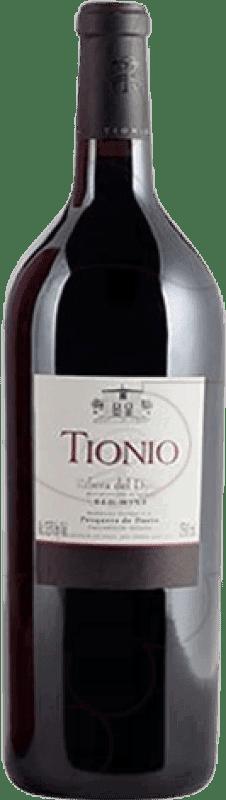 37,95 € Free Shipping | Red wine Tionio Crianza D.O. Ribera del Duero Castilla y León Spain Tempranillo Magnum Bottle 1,5 L