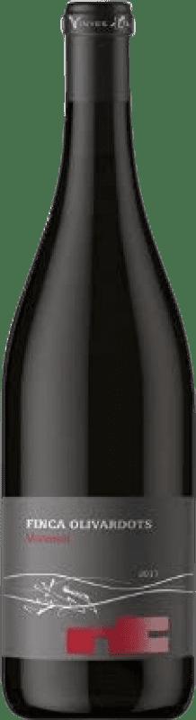 13,95 € Free Shipping | Red wine Olivardots Finca Olivardots Negre D.O. Empordà Catalonia Spain Syrah, Grenache, Mazuelo, Carignan Bottle 75 cl