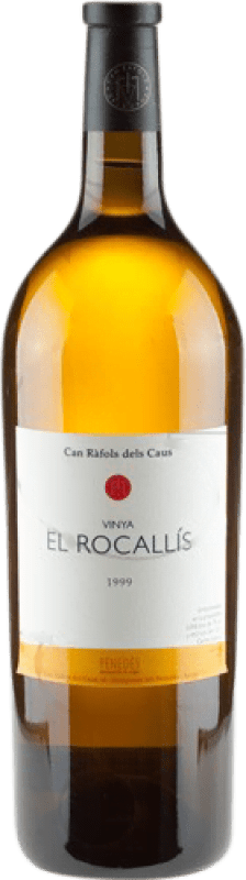 95,95 € Free Shipping | White wine Can Ràfols El Rocallis Crianza D.O. Penedès Catalonia Spain Incroccio Manzoni Magnum Bottle 1,5 L