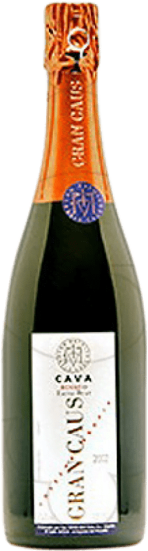 14,95 € Free Shipping | Rosé sparkling Can Ràfols Gran Caus Rosat Brut Nature Reserva D.O. Cava Catalonia Spain Pinot Black Bottle 75 cl