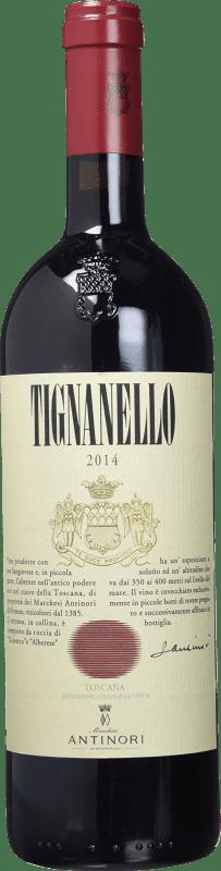 118,95 € Free Shipping | Red wine Antinori Tignanello Antinori Otras D.O.C. Italia Italy Cabernet Sauvignon, Sangiovese, Cabernet Franc Bottle 75 cl
