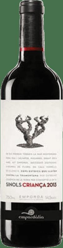 6,95 € Free Shipping | Red wine Empordàlia Sinols Crianza D.O. Empordà Catalonia Spain Bottle 75 cl