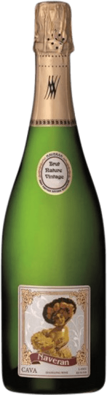 11,95 € Free Shipping | White sparkling Naveran Vintage Brut Nature Reserva D.O. Cava Catalonia Spain Macabeo, Xarel·lo, Chardonnay, Parellada Bottle 75 cl