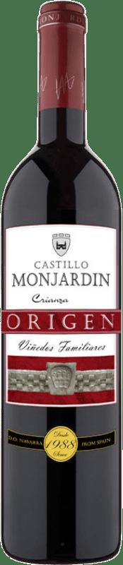 7,95 € Free Shipping | Red wine Castillo de Monjardín Crianza D.O. Navarra Navarre Spain Tempranillo, Merlot, Cabernet Sauvignon Bottle 75 cl