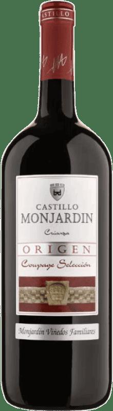 23,95 € Free Shipping | Red wine Castillo de Monjardín Crianza D.O. Navarra Navarre Spain Tempranillo, Merlot, Cabernet Sauvignon Jéroboam Bottle-Double Magnum 3 L