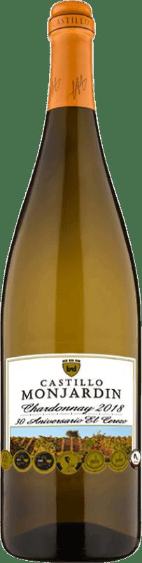 28,95 € Free Shipping | White wine Castillo de Monjardín Joven D.O. Navarra Navarre Spain Chardonnay Jéroboam Bottle-Double Magnum 3 L