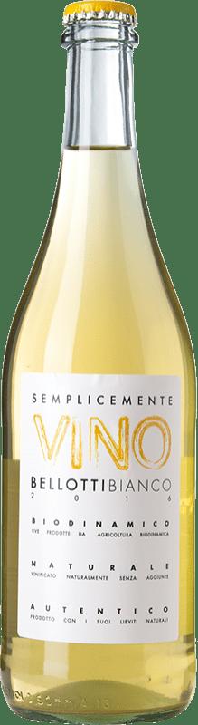 17,95 € Free Shipping | White wine Cascina degli Ulivi Semplicemente Vino Bellotti Bianco Joven Otras D.O.C. Italia Italy Cortese Bottle 75 cl
