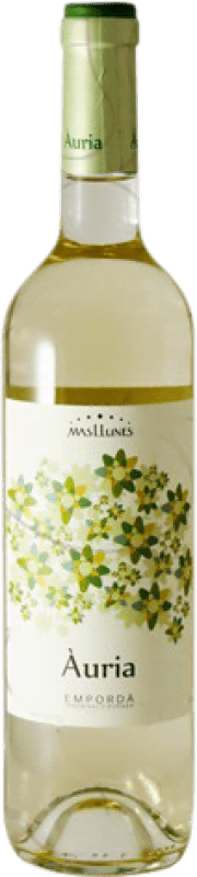 9,95 € Free Shipping | White wine Mas Llunes Àuria Joven D.O. Empordà Catalonia Spain Muscat Bottle 75 cl