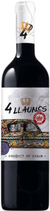6,95 € | Red wine Family Owned 4 Llaunes Joven Levante Spain Monastrell Bottle 75 cl