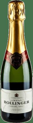 27,95 €   White sparkling Bollinger Cuvée Brut Gran Reserva A.O.C. Champagne France Pinot Black, Chardonnay, Pinot Meunier Half Bottle 37 cl