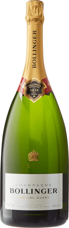 107,95 € | White sparkling Bollinger Cuvée Brut Gran Reserva A.O.C. Champagne France Pinot Black, Chardonnay, Pinot Meunier Magnum Bottle 1,5 L