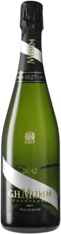 42,95 € | White sparkling G.H. Mumm Cordon Rouge Millesime Brut Gran Reserva A.O.C. Champagne France Pinot Black, Chardonnay, Pinot Meunier Bottle 75 cl
