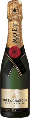 26,95 € | White sparkling Moët & Chandon Imperial Brut Gran Reserva A.O.C. Champagne France Pinot Black, Chardonnay, Pinot Meunier Half Bottle 37 cl