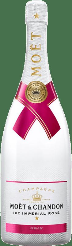 59,95 € | Rosé sparkling Moët & Chandon Ice Imperial Rosé Semi Dry A.O.C. Champagne France Pinot Black, Chardonnay, Pinot Meunier Bottle 75 cl